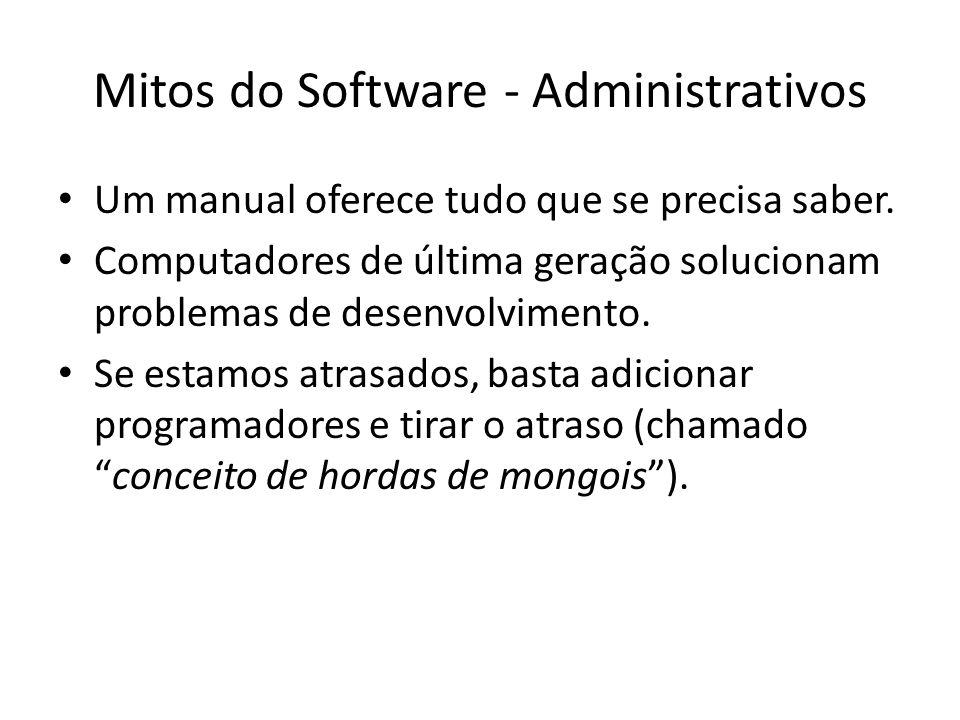 Mitos do Software - Administrativos Um manual oferece tudo que se precisa saber.