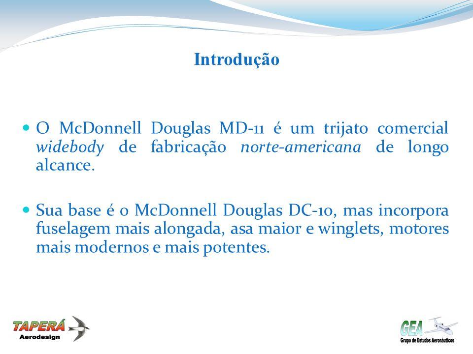 Introdução O McDonnell Douglas MD-11 é um trijato comercial widebody de fabricação norte-americana de longo alcance. Sua base é o McDonnell Douglas DC