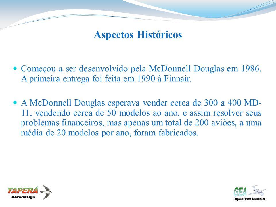Aspectos Históricos Começou a ser desenvolvido pela McDonnell Douglas em 1986. A primeira entrega foi feita em 1990 à Finnair. A McDonnell Douglas esp