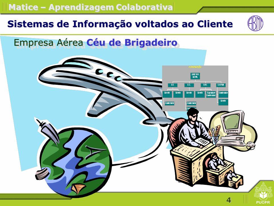 5 Matice – Aprendizagem Colaborativa Empresa Aérea Céu de Brigadeiro Estudo de Caso - Empresa Aérea Céu de Brigadeiro Brainstorming – O QUE o cliente deseja.