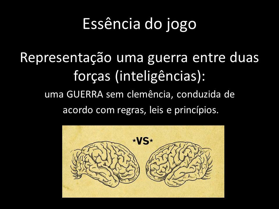 Essência do jogo Representação uma guerra entre duas forças (inteligências): uma GUERRA sem clemência, conduzida de acordo com regras, leis e princípios.