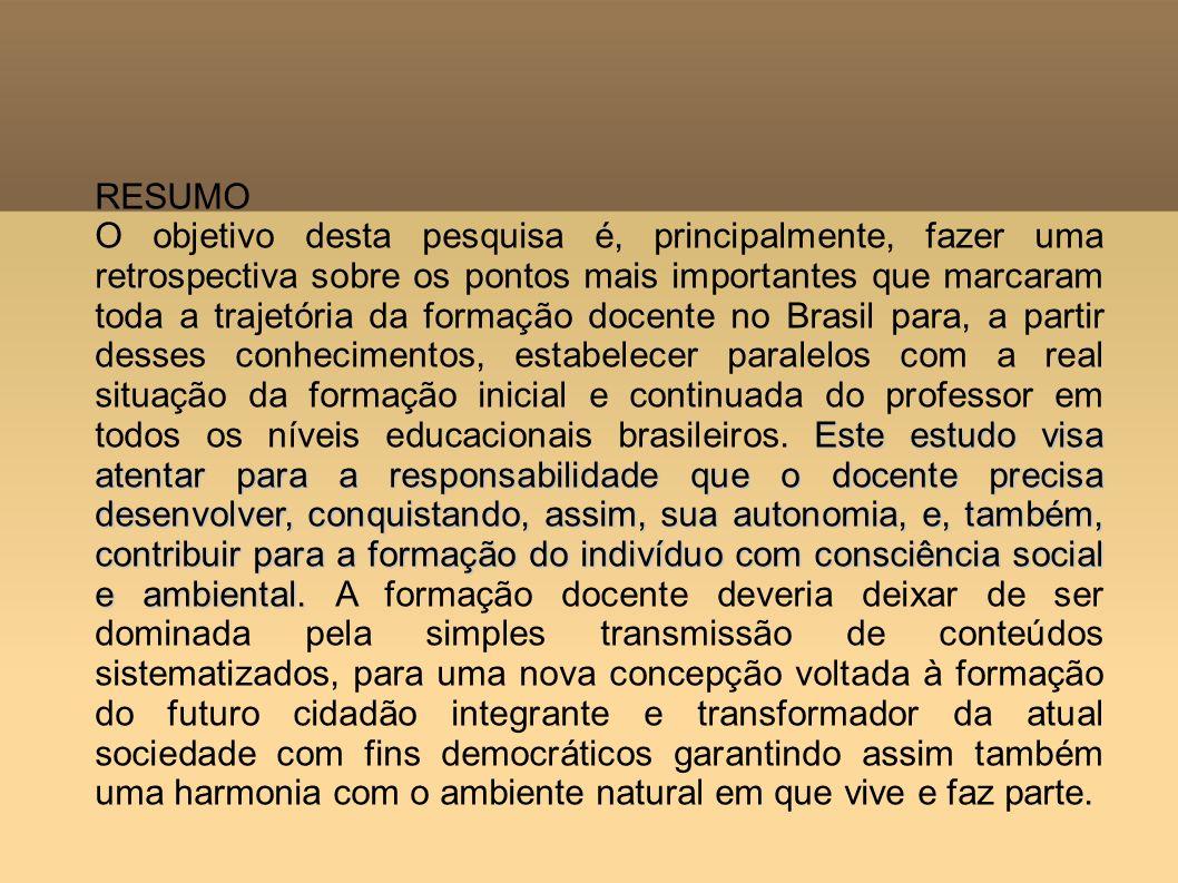 Entender a atual formação docente e, também, o desempenho dos que já atuam nas instituições educativas brasileiras requer segundo Ilha e Krug buscar subsídios na sua história nos aspectos macro e micro que englobam o contexto educacional, político, social e econômico.