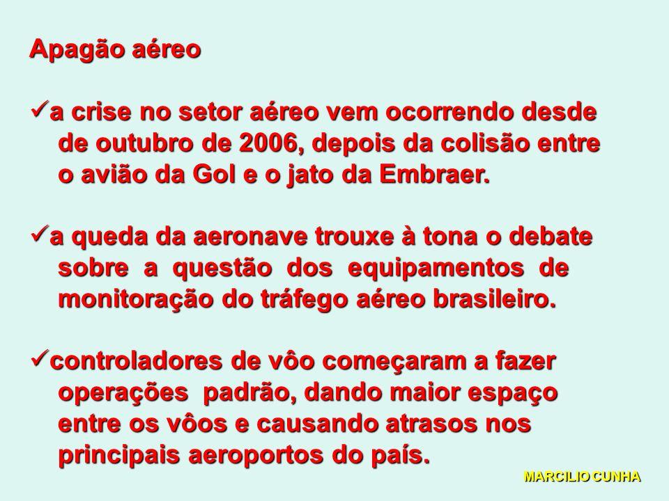 Apagão aéreo a crise no setor aéreo vem ocorrendo desde a crise no setor aéreo vem ocorrendo desde de outubro de 2006, depois da colisão entre de outubro de 2006, depois da colisão entre o avião da Gol e o jato da Embraer.