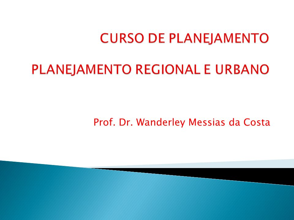 Prof. Dr. Wanderley Messias da Costa