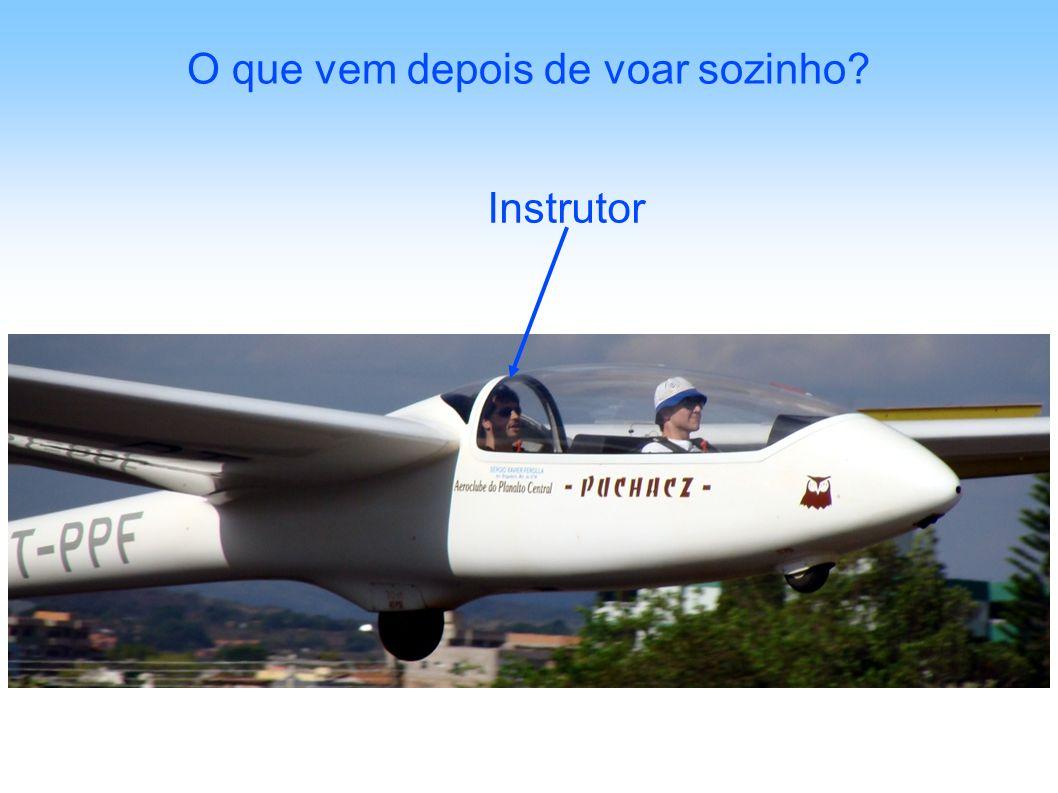 O que vem depois de voar sozinho? Instrutor