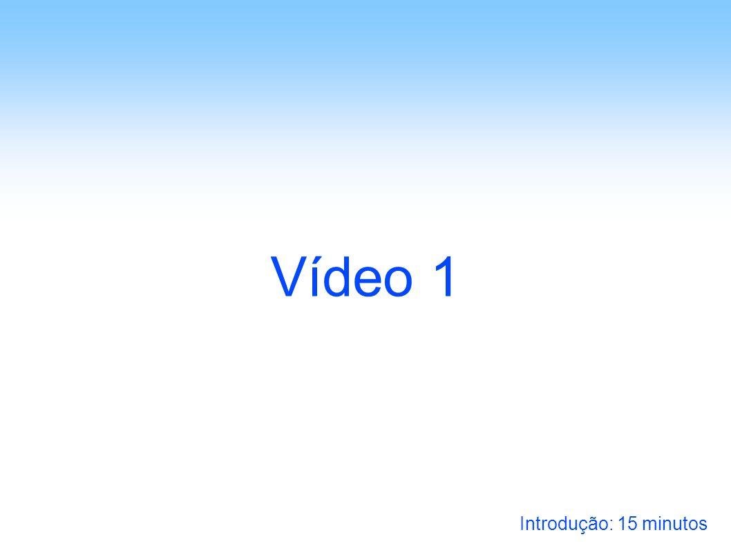 Vídeo 1 Introdução: 15 minutos