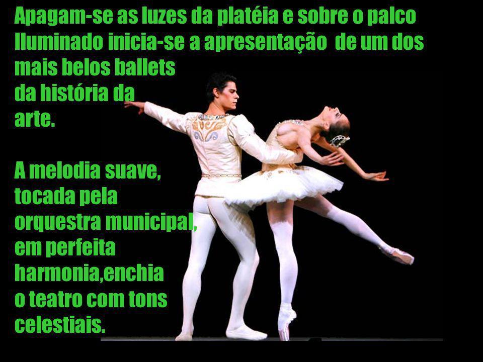 Apagam-se as luzes da platéia e sobre o palco Iluminado inicia-se a apresentação de um dos mais belos ballets da história da arte.