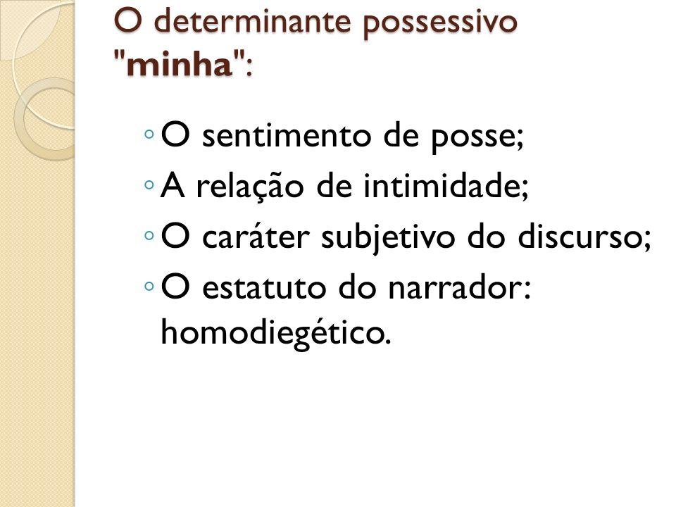 O determinante possessivo