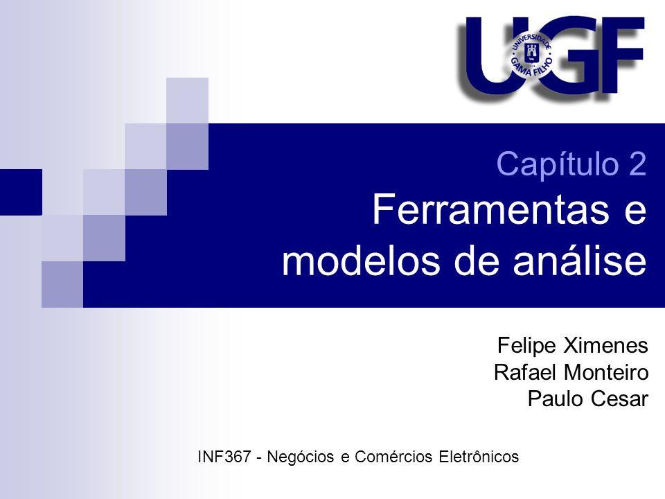 Capítulo 2 Ferramentas e modelos de análise Felipe Ximenes Rafael Monteiro Paulo Cesar INF367 - Negócios e Comércios Eletrônicos