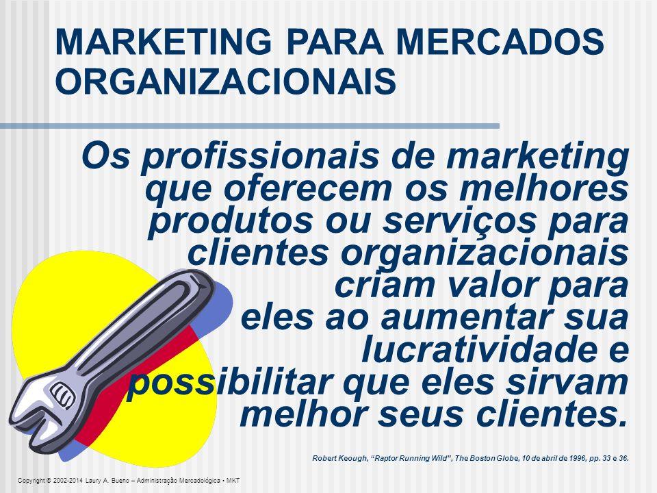 Os profissionais de marketing que oferecem os melhores produtos ou serviços para clientes organizacionais criam valor para eles ao aumentar sua lucrat
