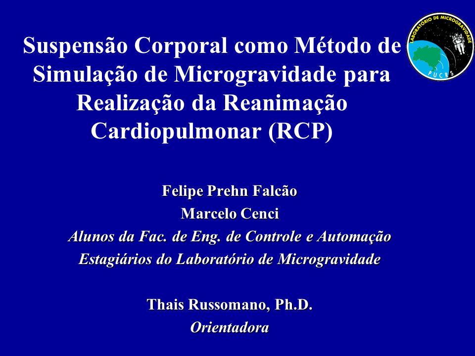 Suspensão Corporal como Método de Simulação de Microgravidade para Realização da Reanimação Cardiopulmonar (RCP) Felipe Prehn Falcão Marcelo Cenci Alu