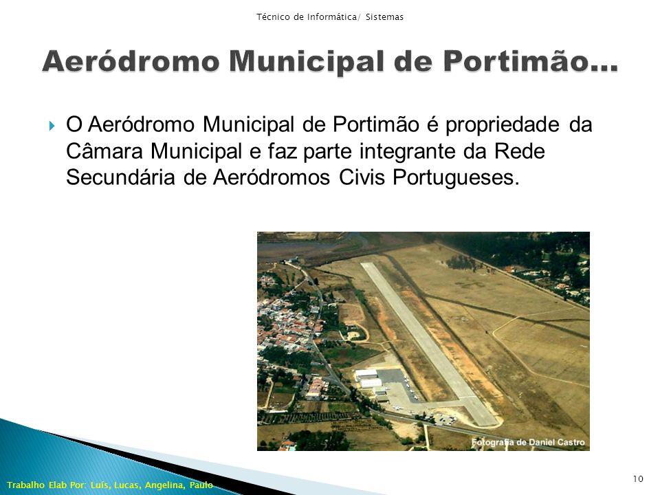 O Aeródromo Municipal de Portimão é propriedade da Câmara Municipal e faz parte integrante da Rede Secundária de Aeródromos Civis Portugueses. Técnico