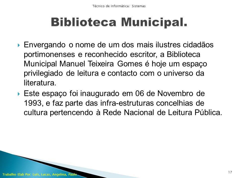 Envergando o nome de um dos mais ilustres cidadãos portimonenses e reconhecido escritor, a Biblioteca Municipal Manuel Teixeira Gomes é hoje um espaço