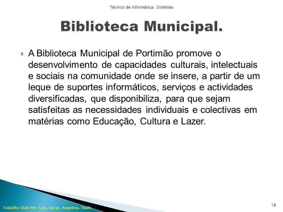 A Biblioteca Municipal de Portimão promove o desenvolvimento de capacidades culturais, intelectuais e sociais na comunidade onde se insere, a partir d