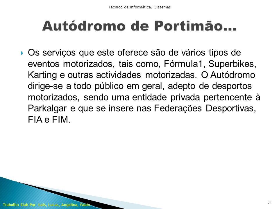 Os serviços que este oferece são de vários tipos de eventos motorizados, tais como, Fórmula1, Superbikes, Karting e outras actividades motorizadas. O