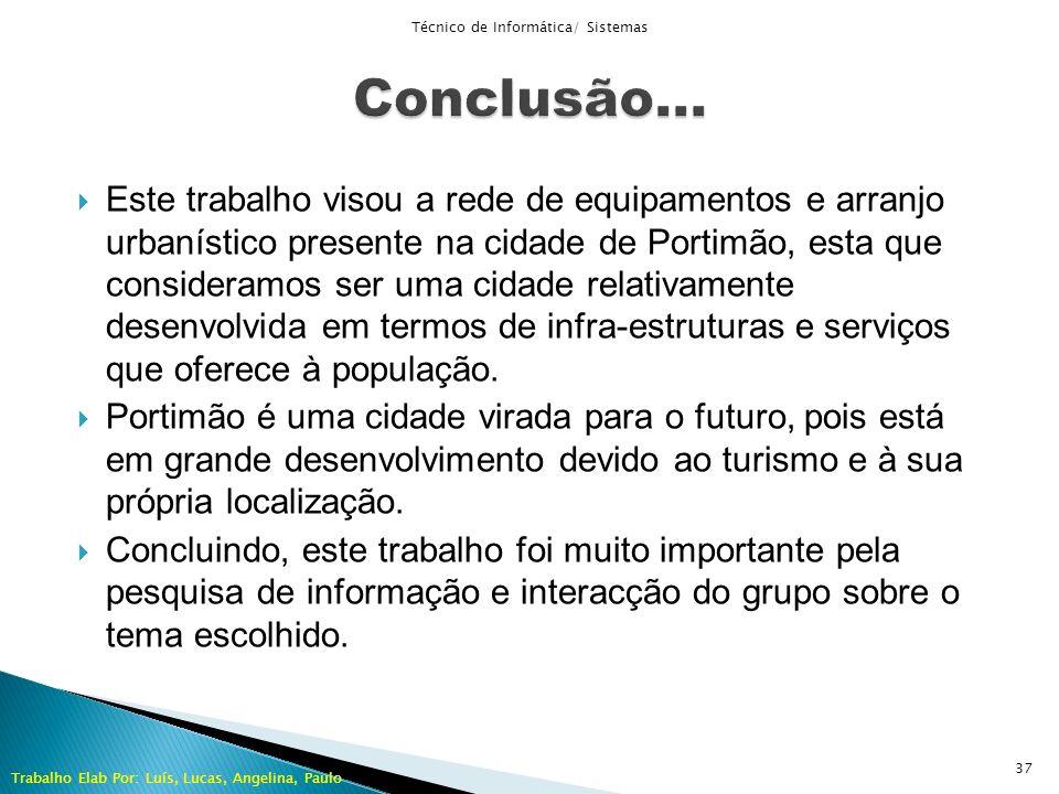 Este trabalho visou a rede de equipamentos e arranjo urbanístico presente na cidade de Portimão, esta que consideramos ser uma cidade relativamente de