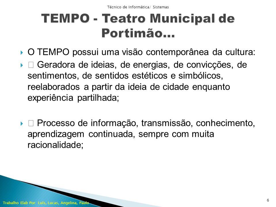 O TEMPO possui uma visão contemporânea da cultura: Geradora de ideias, de energias, de convicções, de sentimentos, de sentidos estéticos e simbólicos,