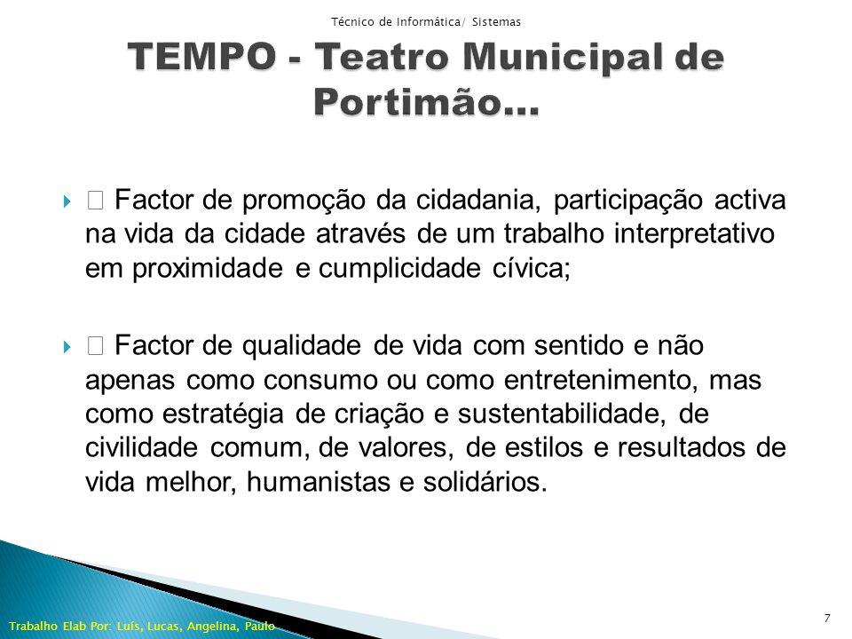 Factor de promoção da cidadania, participação activa na vida da cidade através de um trabalho interpretativo em proximidade e cumplicidade cívica; Fac