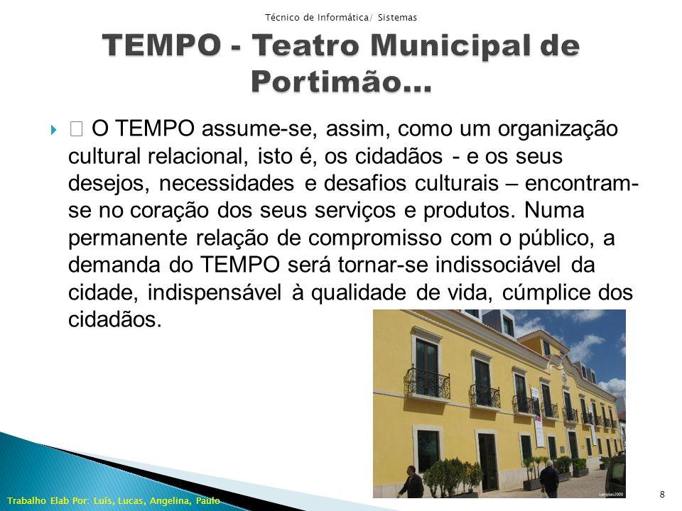 O TEMPO assume-se, assim, como um organização cultural relacional, isto é, os cidadãos - e os seus desejos, necessidades e desafios culturais – encont
