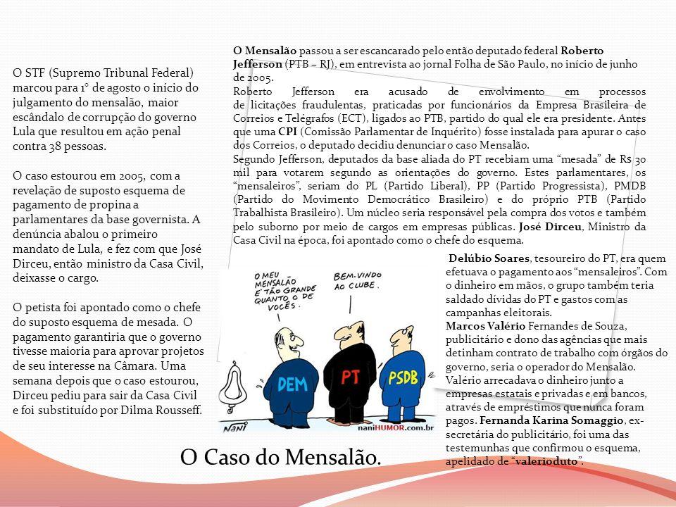 O STF (Supremo Tribunal Federal) marcou para 1° de agosto o início do julgamento do mensalão, maior escândalo de corrupção do governo Lula que resulto
