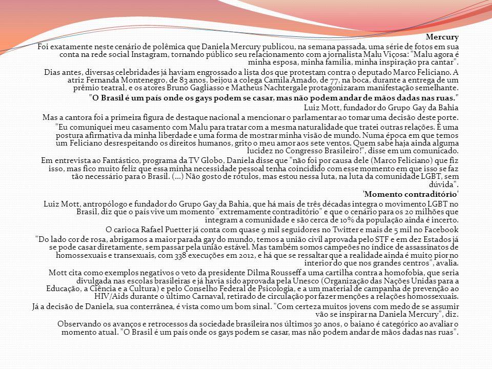 Mercury Foi exatamente neste cenário de polêmica que Daniela Mercury publicou, na semana passada, uma série de fotos em sua conta na rede social Insta
