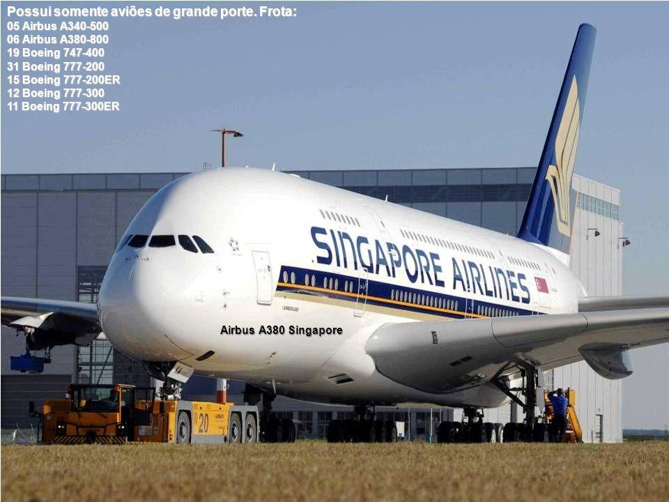 Airbus A380 Singapore Possui somente aviões de grande porte.