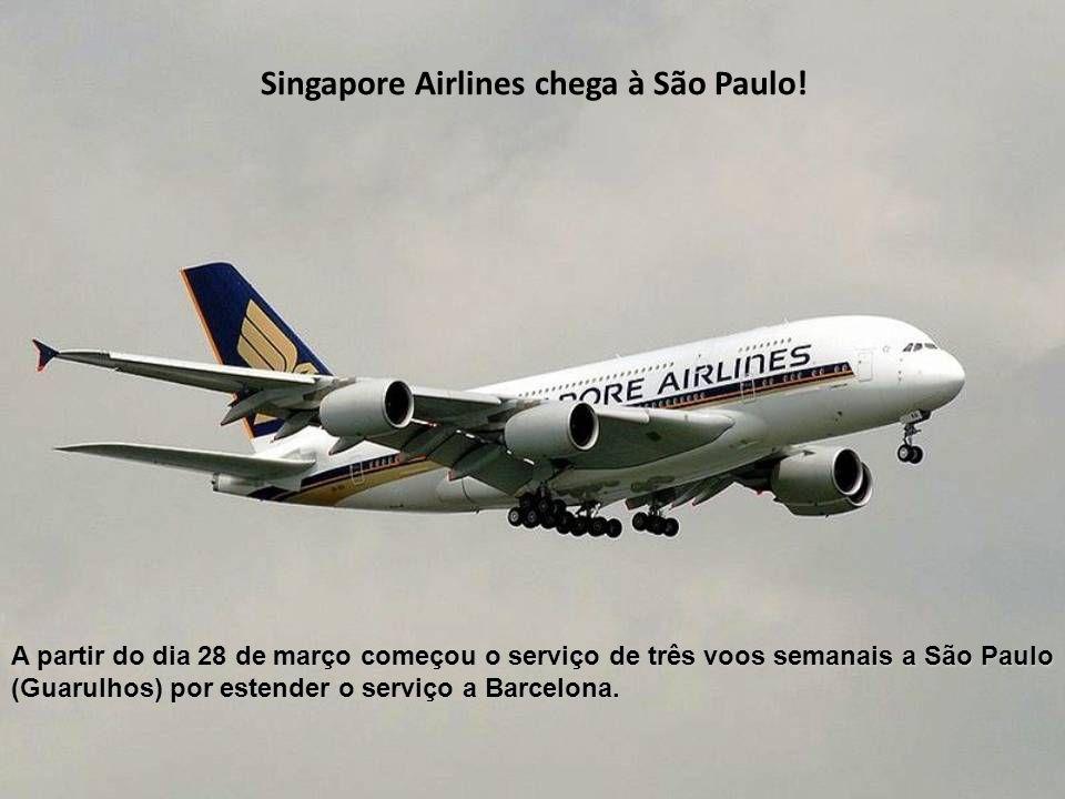 A partir do dia 28 de março começou o serviço de três voos semanais a São Paulo (Guarulhos) por estender o serviço a Barcelona.