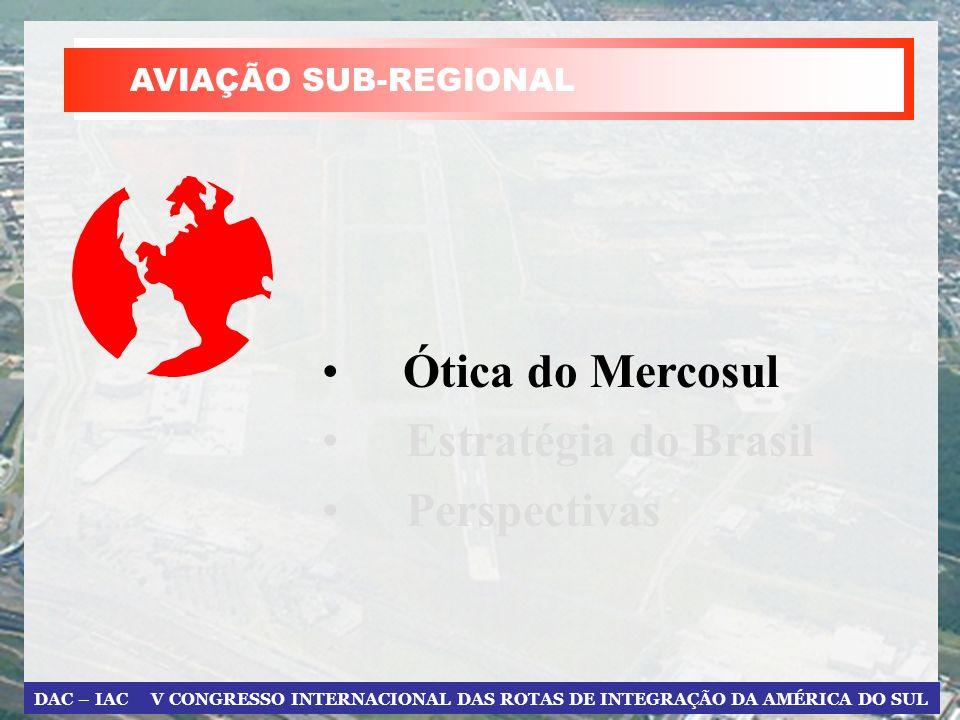 DAC – IAC V CONGRESSO INTERNACIONAL DAS ROTAS DE INTEGRAÇÃO DA AMÉRICA DO SUL ÓTICA DO MERCOSUL 2.