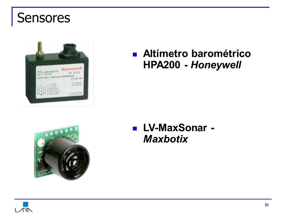 10 Sensores Altímetro barométrico HPA200 - Honeywell LV-MaxSonar - Maxbotix