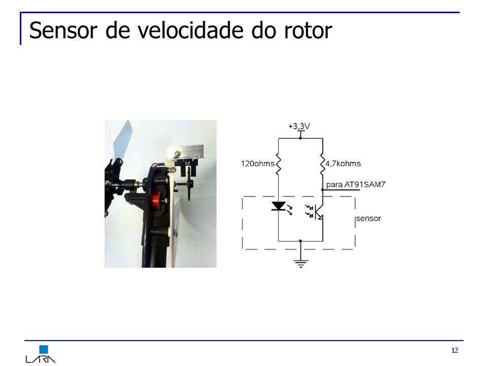 12 Sensor de velocidade do rotor