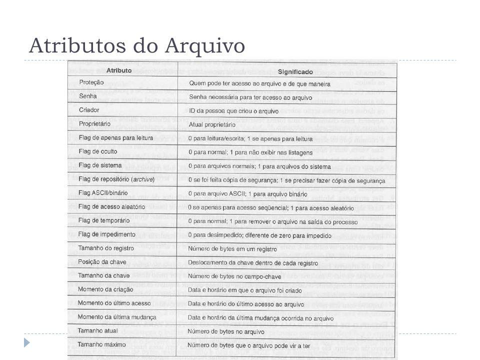 Atributos do Arquivo