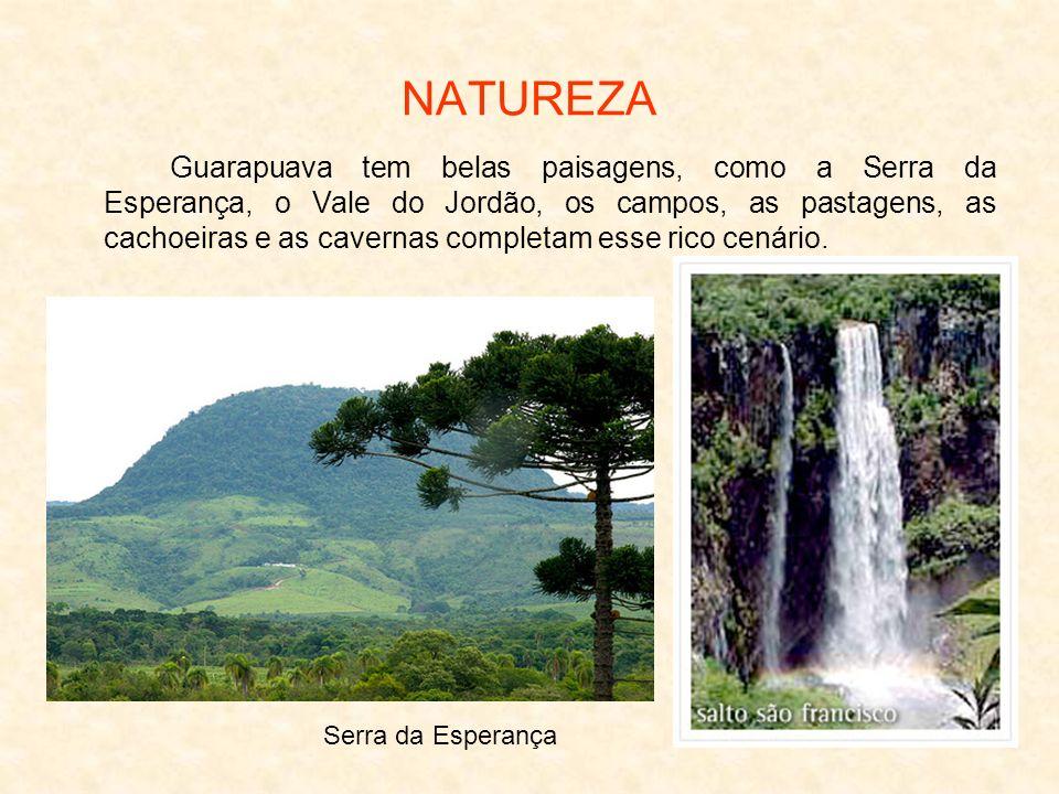 NATUREZA Guarapuava tem belas paisagens, como a Serra da Esperança, o Vale do Jordão, os campos, as pastagens, as cachoeiras e as cavernas completam e