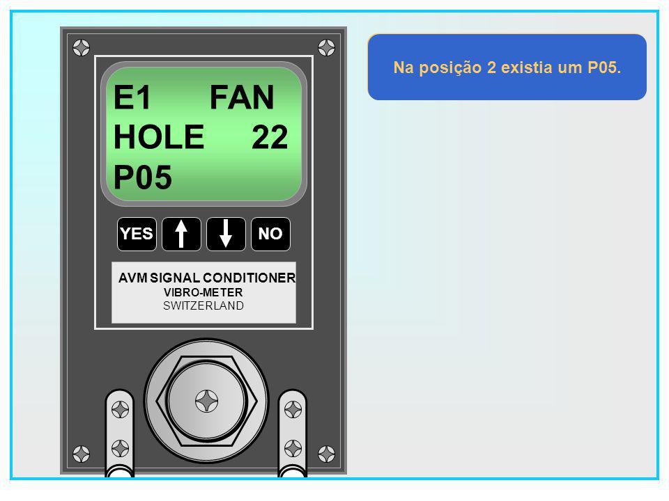 104 YESNO VIBRO-METER SWITZERLAND AVM SIGNAL CONDITIONER E1 FAN HOLE 24 P04 Na posição 24 existia um P04.