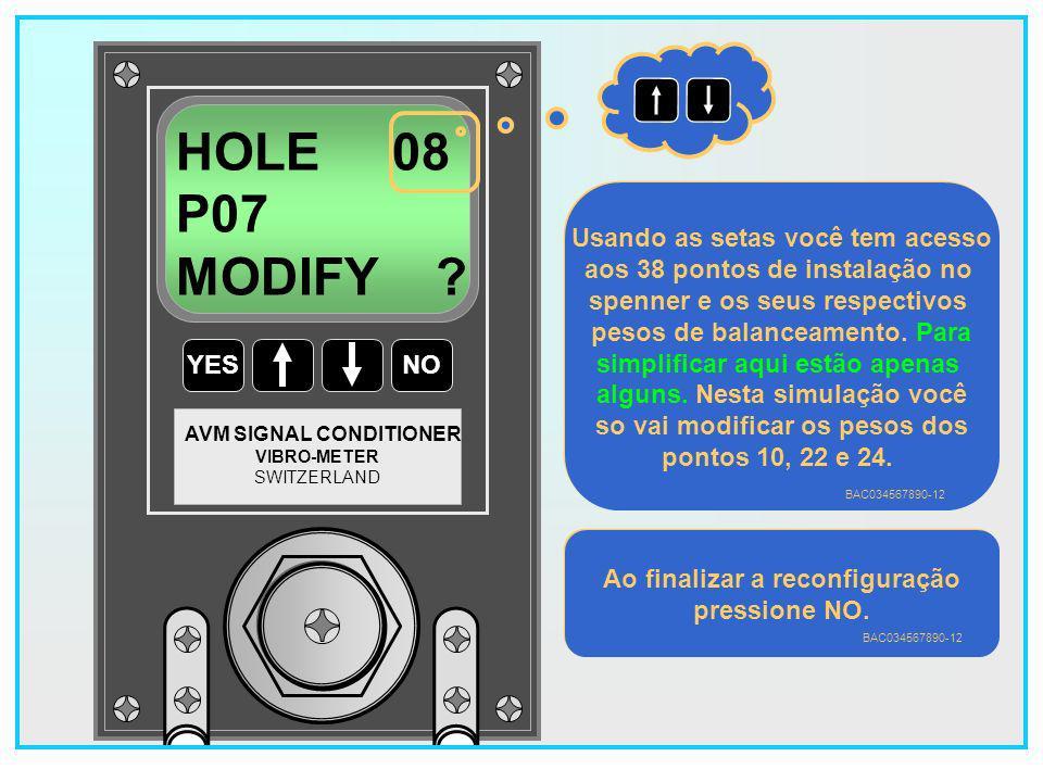 105 YESNO VIBRO-METER SWITZERLAND AVM SIGNAL CONDITIONER E1 FAN HOLE 22 P05 Na posição 2 existia um P05.