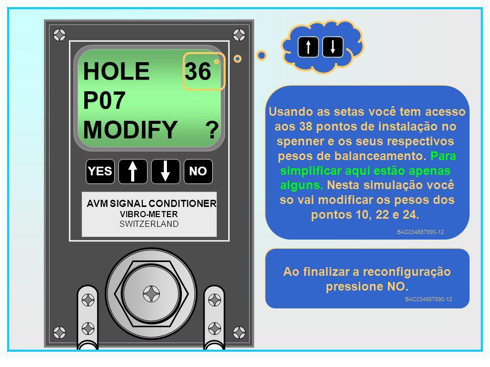 119 YESNO VIBRO-METER SWITZERLAND AVM SIGNAL CONDITIONER HOLE 34 P07 MODIFY .