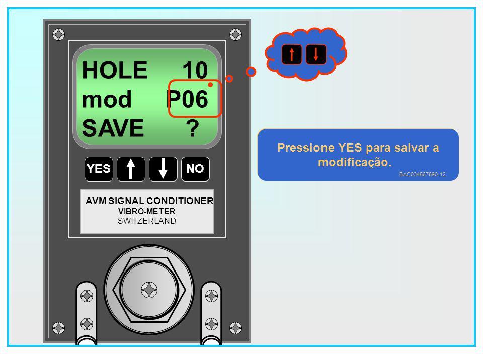 122 YESNO VIBRO-METER SWITZERLAND AVM SIGNAL CONDITIONER HOLE 10 mod P04 SAVE .