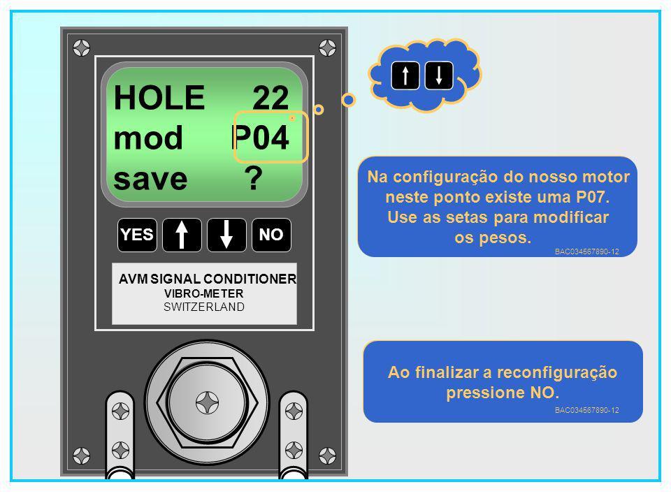 124 YESNO VIBRO-METER SWITZERLAND AVM SIGNAL CONDITIONER HOLE 10 mod P07 SAVE .