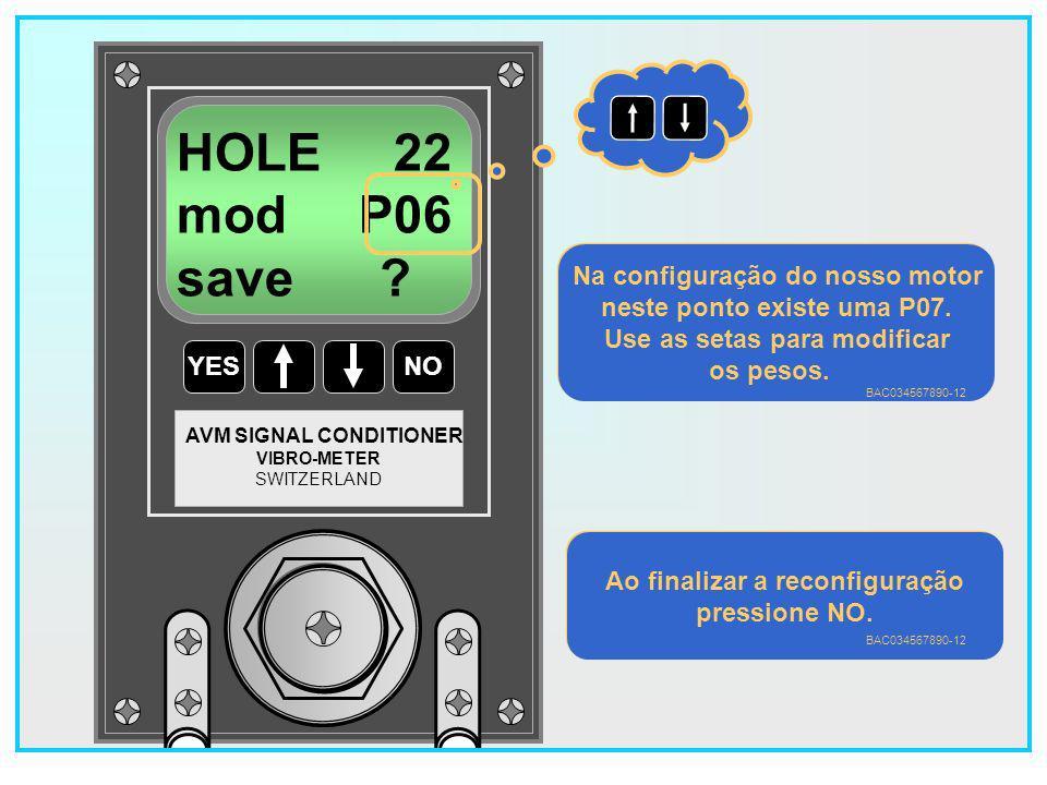 125 YESNO VIBRO-METER SWITZERLAND AVM SIGNAL CONDITIONER HOLE 22 mod P04 save .