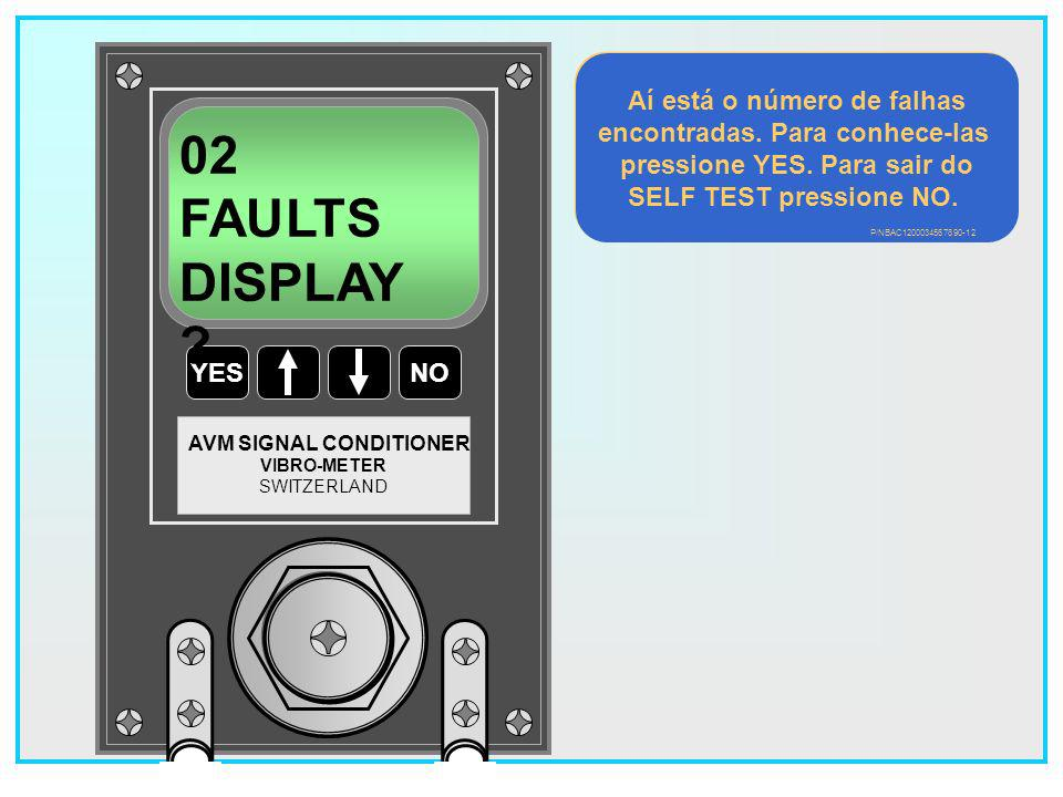 19 YESNO VIBRO-METER SWITZERLAND AVM SIGNAL CONDITIONER Test in progress O teste leva ± 10 segundos.