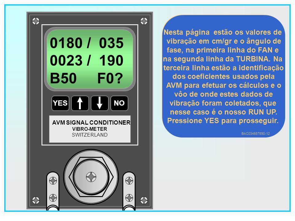 95 YESNO VIBRO-METER SWITZERLAND AVM SIGNAL CONDITIONER 1 FLIGHTS DISPLAY .