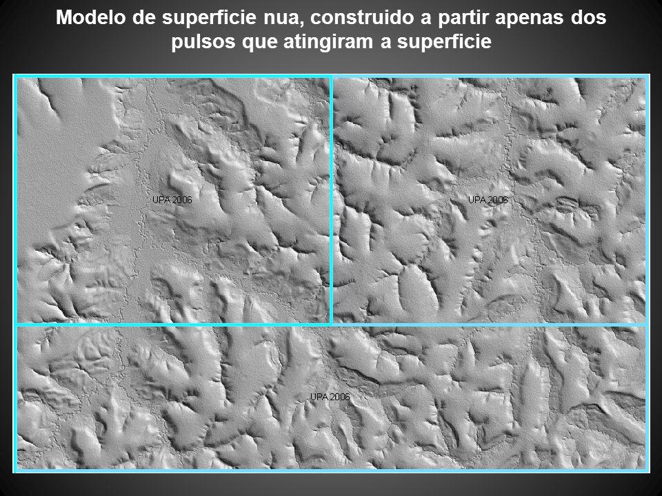 Modelo de superficie nua, construido a partir apenas dos pulsos que atingiram a superficie