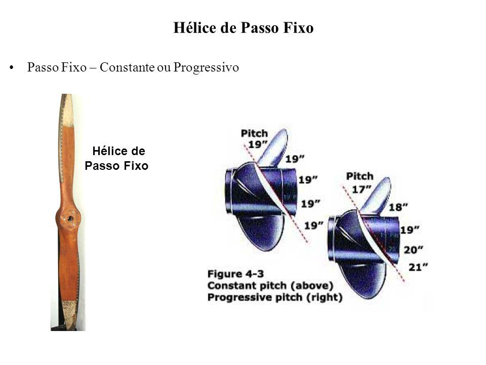Hélice de Passo Fixo Passo Fixo – Constante ou Progressivo Hélice de Passo Fixo