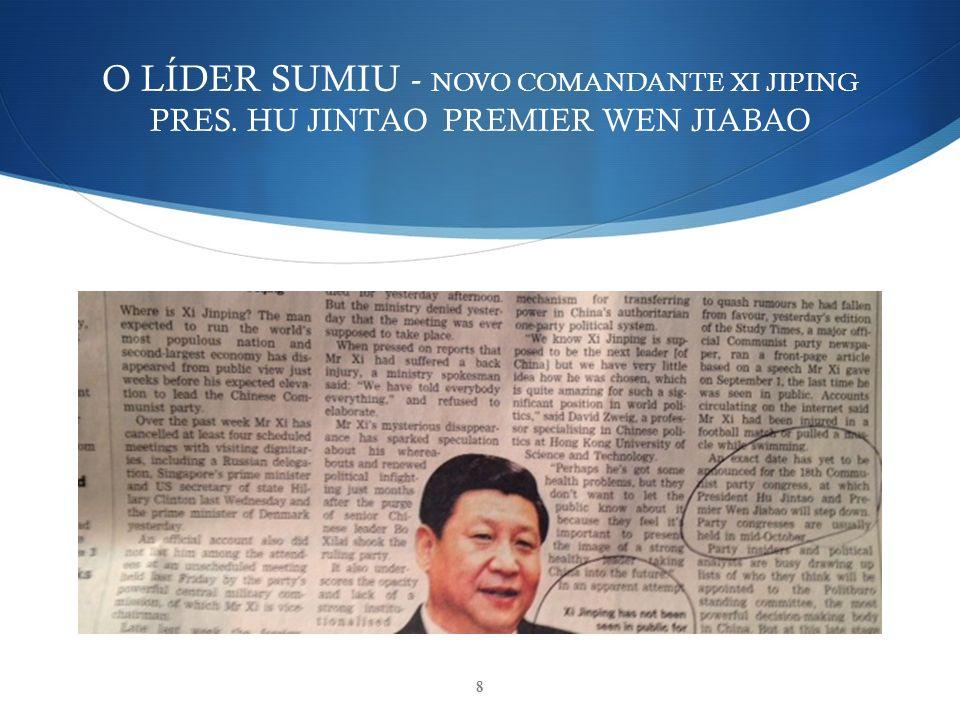 O LÍDER SUMIU - NOVO COMANDANTE XI JIPING PRES. HU JINTAO PREMIER WEN JIABAO 8