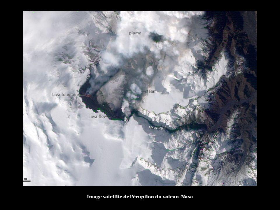 A nova rachadura apareceu perto do vulcão Eyjafjallajökull