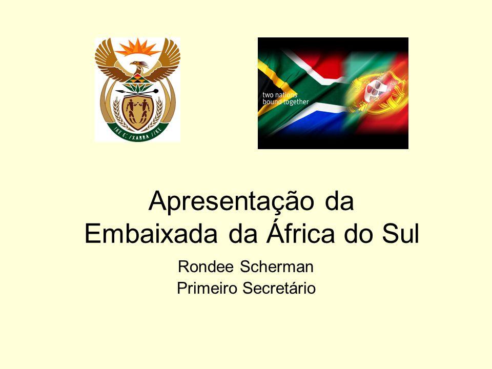 Apresentação da Embaixada da África do Sul Rondee Scherman Primeiro Secretário