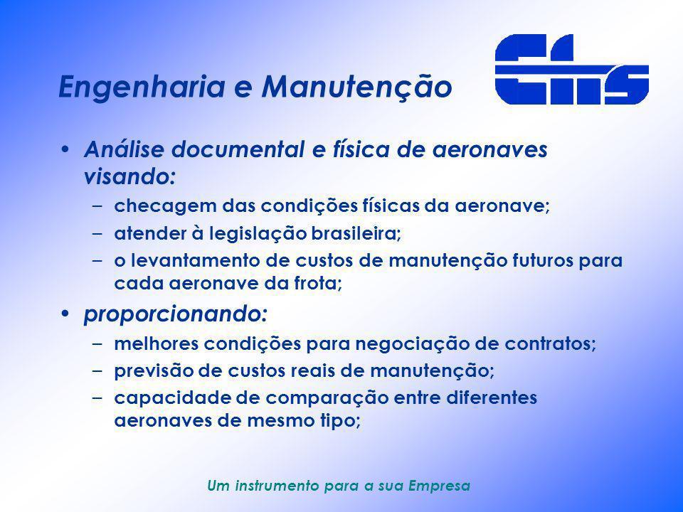 Um instrumento para a sua Empresa Viabilizando a empresa Aeronaves e equipamentos em geral – avaliação da disponibilidade de equipamentos novos e usad