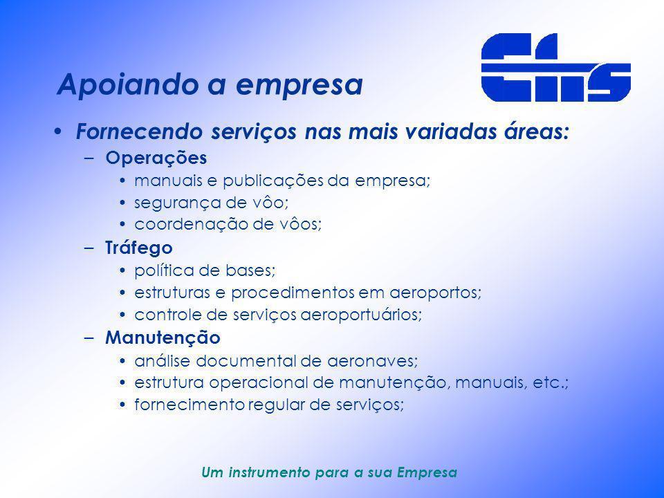 Um instrumento para a sua Empresa Análise de frotas Análise comparativa entre tipos diferentes de aeronaves Análise comparativa entre números de aeron