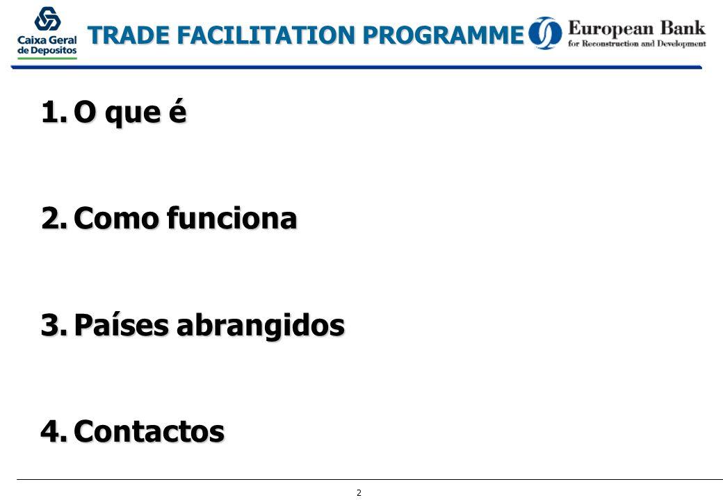 3 TRADE FACILITATION PROGRAMME 1.