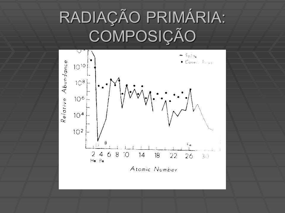 RADIAÇÃO PRIMÁRIA: COMPOSIÇÃO