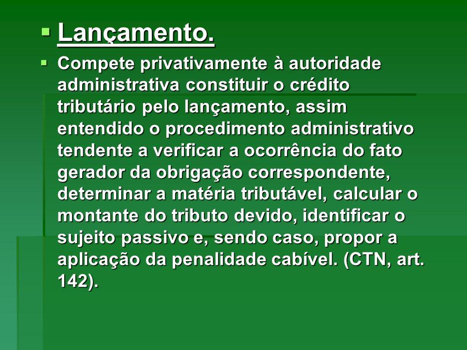 Características: Características: 1.O pagamento antecipado pelo obrigado extingue o crédito, sob condição resolutória da ulterior homologação ao lançamento.